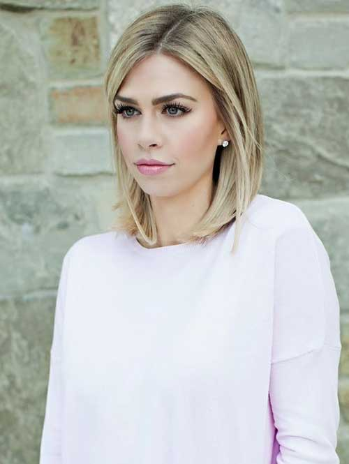 Medium to Short Blonde Haircut