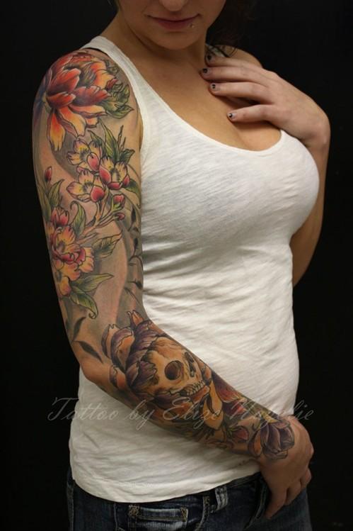 Skull Tattoo for Women Arm tattoos