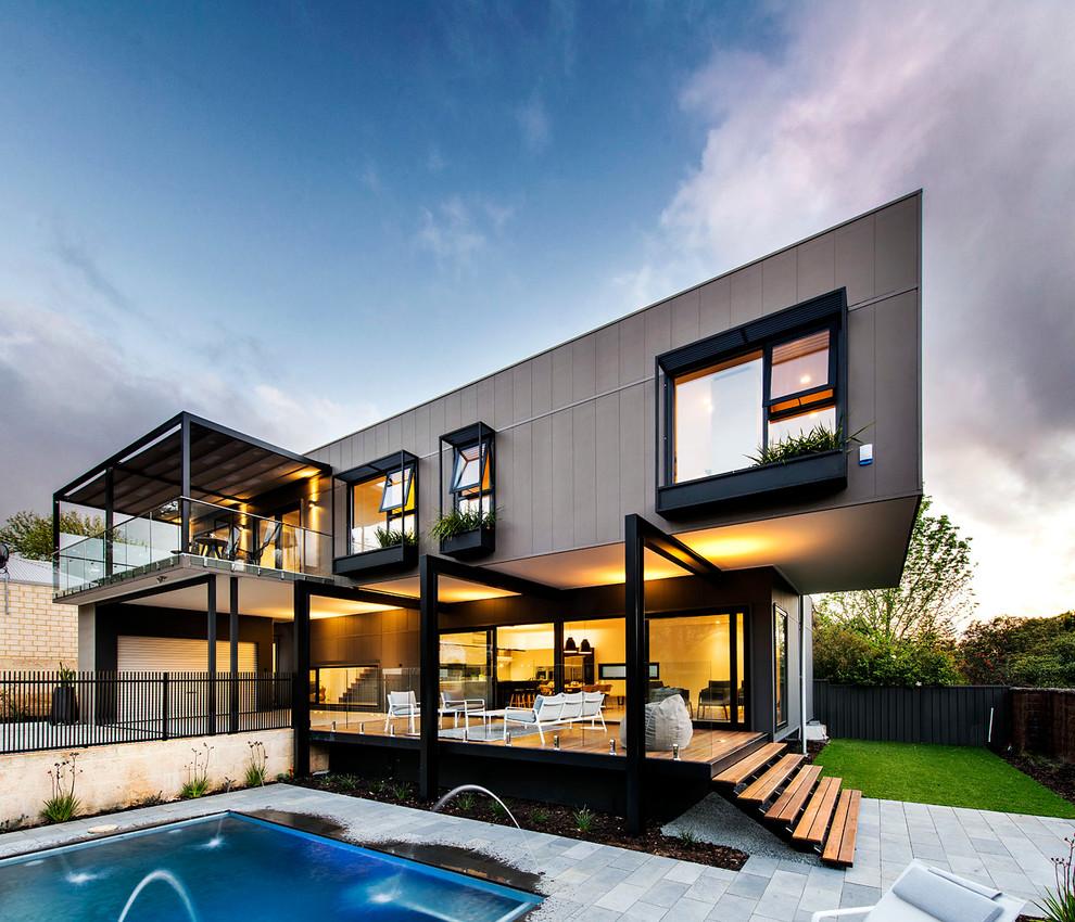 contemporary dark exterior design