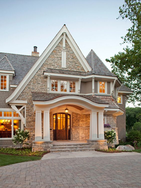 Home exterior design 5 ideas 31 pictures for Front house entrance design ideas