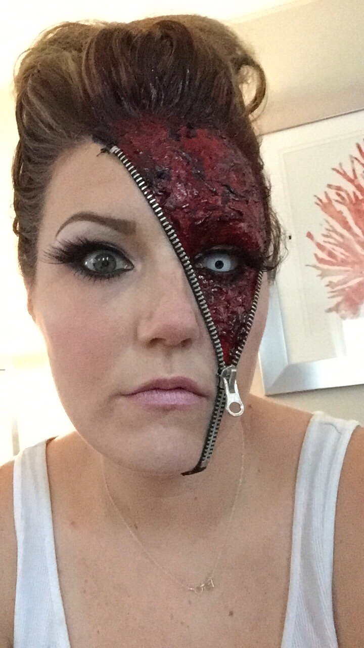 Bloody Scab Spirit Halloween Zipper Face