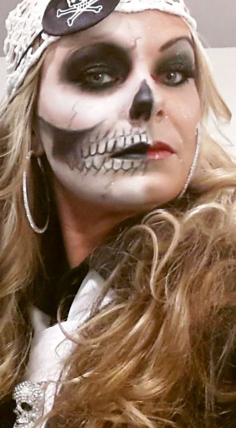 Ghost Skeleton Pirate Makeup