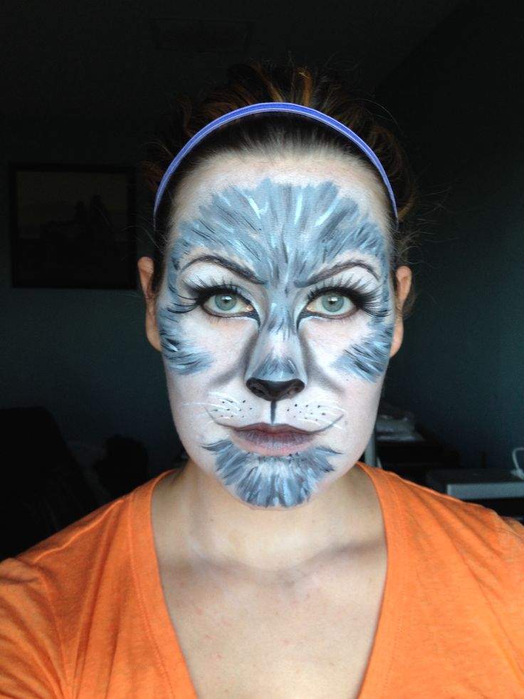 Grey wolf Animal Halloween Makeup