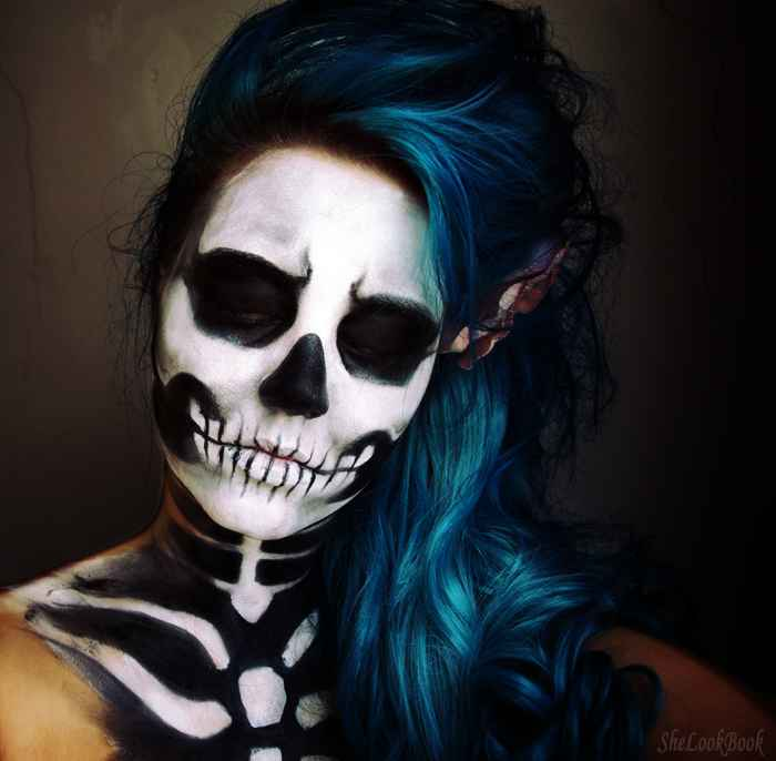 41 beautiful colorful sugar skull halloween makeup ideas. Black Bedroom Furniture Sets. Home Design Ideas