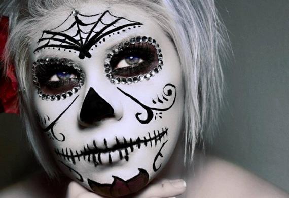 sugar skull girl makeup