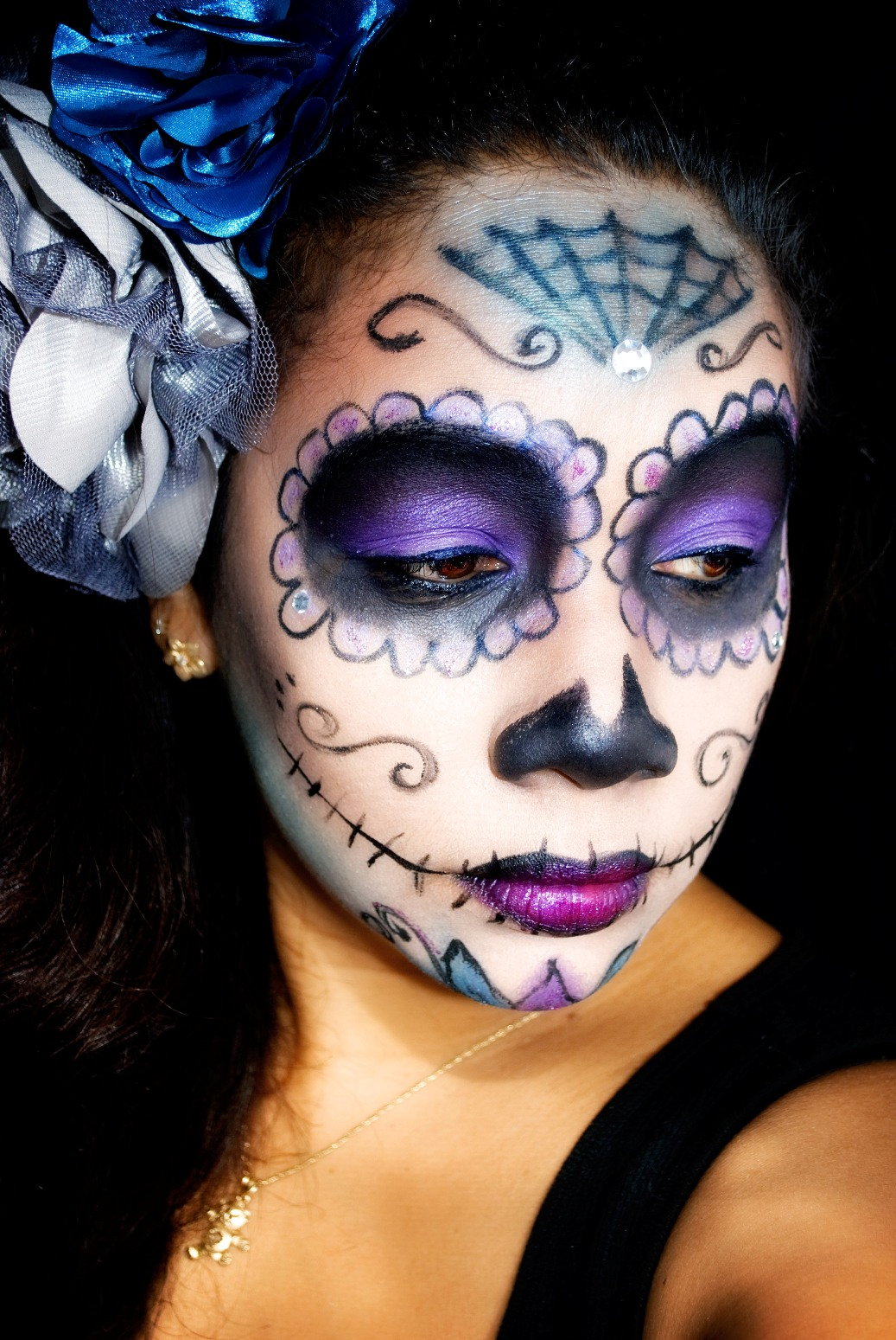 41 Beautiful U0026 Colorful Sugar Skull Halloween Makeup Ideas