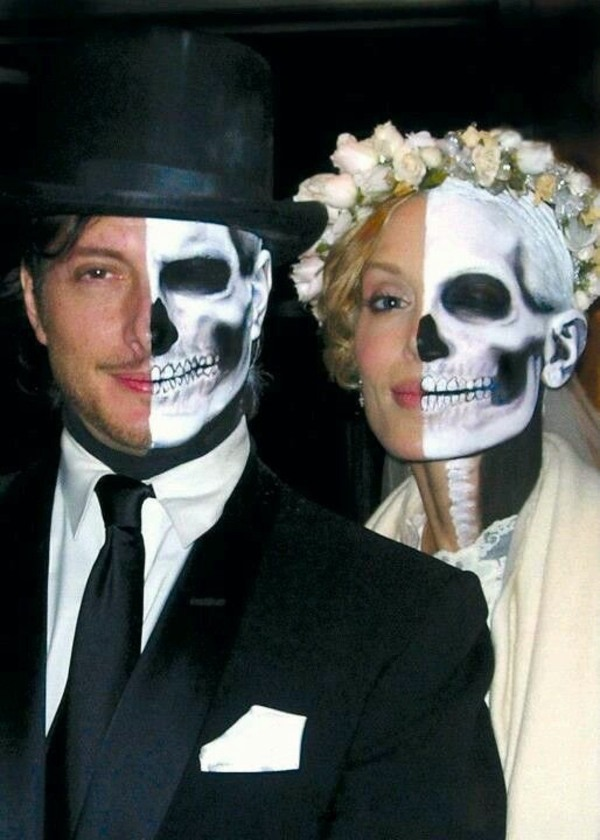 bride and groom halloween costumes makeup for couples