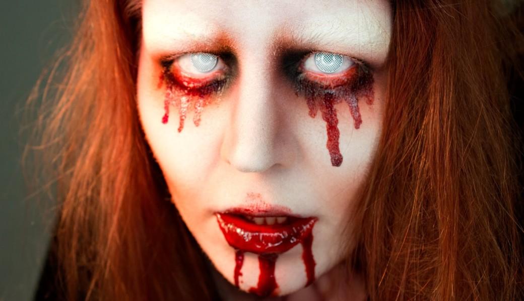 bloody halloween makeup » Wassup Mate