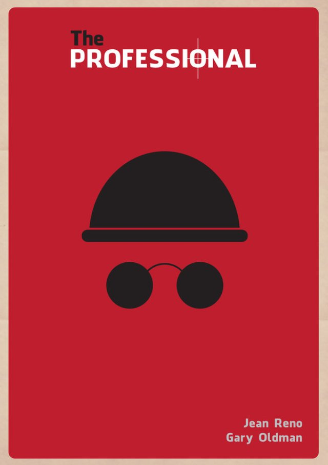 The Professional movie minimalist poster