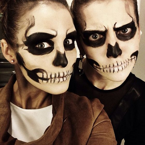 couple halloween makeup