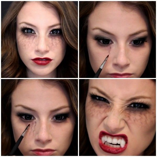 vampire diaries inspired halloween makeup